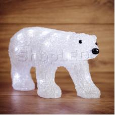 """Акриловая светодиодная фигура """"Медведь"""" 34,5х12х17 см, 4,5 В, 3 батарейки AA (не входят в комплект), 24 светодиода, NEON-NIGHT"""