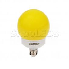 Лампа шар e27 12 LED ∅100мм желтая