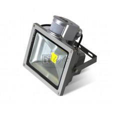 Светодиодный прожектор c датчиком движения 30W IP65 220V White